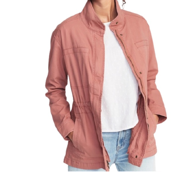 Old Navy Scout Utility Jacket in Amelia Rose Pink